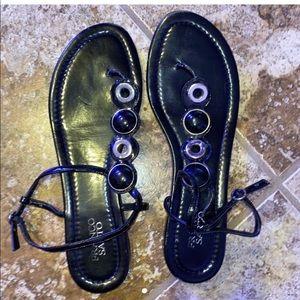 bejeweled gladiator sandals